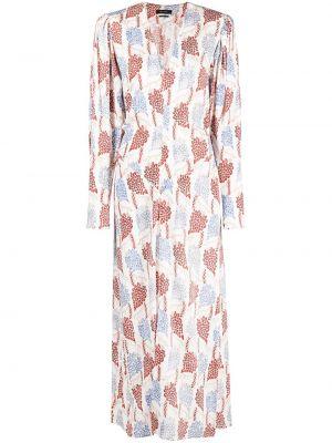 Платье макси с длинными рукавами - белое Isabel Marant