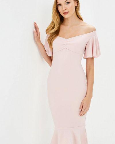 Розовое платье весеннее City Goddess