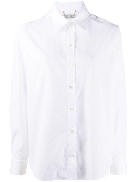 Хлопковая белая рубашка на пуговицах с длинными рукавами Ports 1961