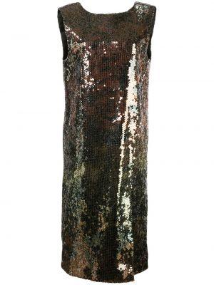 Sukienka bez rękawów z haftem Halpern