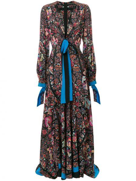 Платье с запахом с декольте Etro