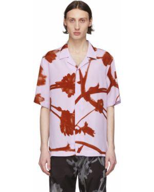 Koszula krótkie z krótkim rękawem z wiskozy z kołnierzem Paul Smith