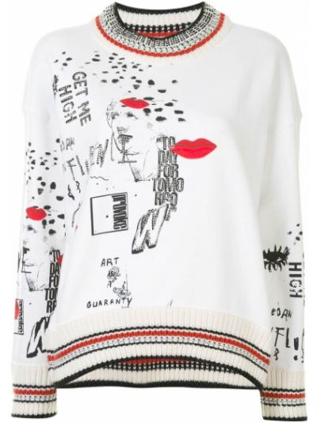 Prosto bawełna biały bluza przycięte Ermanno Scervino