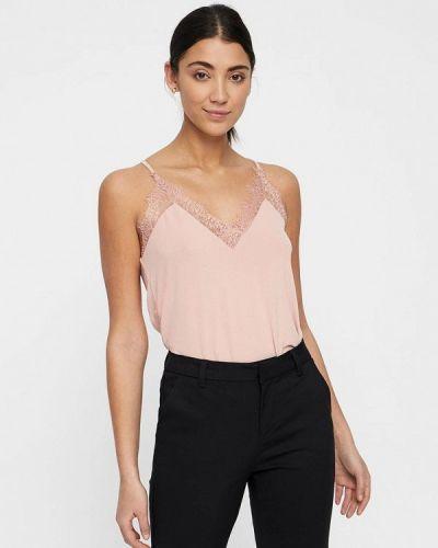 Розовый топ пижамный Vero Moda