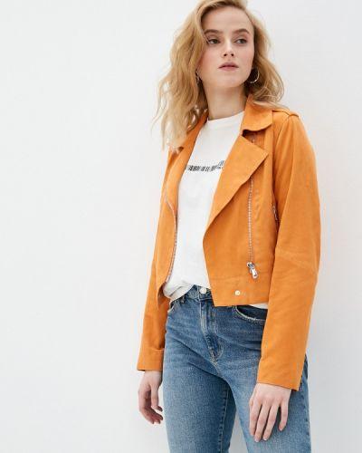 Оранжевая кожаная куртка Oakwood