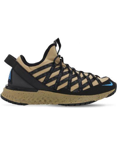 Кроссовки на шнуровке - бежевые Nike Acg