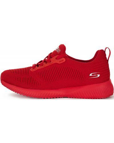 Красные кроссовки на шнуровке Skechers