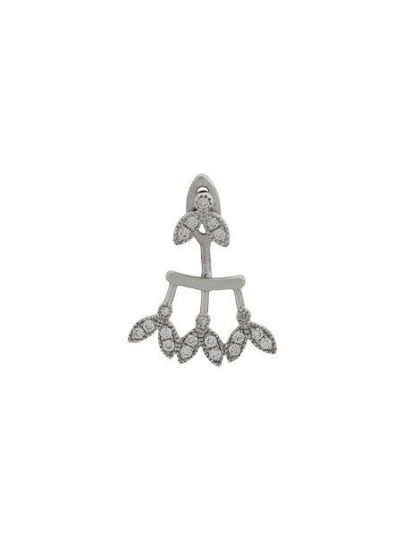 Белые золотые серьги с бриллиантом на кнопках Yvonne Léon
