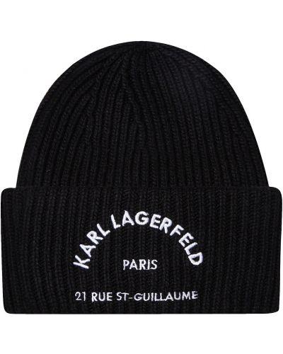 Шапка с отворотом с надписью Karl Lagerfeld