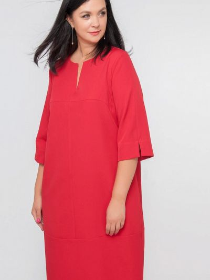 Повседневное платье - красное Лимонти