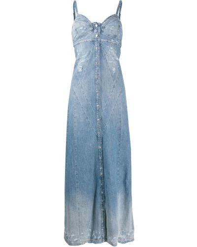Джинсовое платье макси на бретелях Diesel