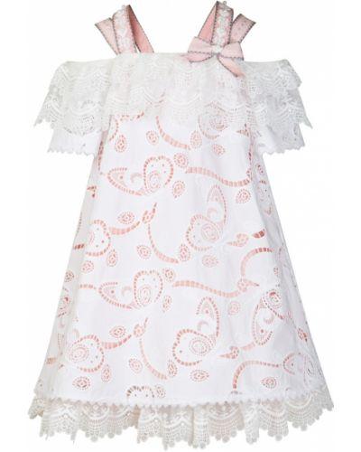 Пышное платье хлопковое розовый Yudashkin Kids