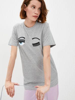 Серая итальянская футболка Chiara Ferragni Collection