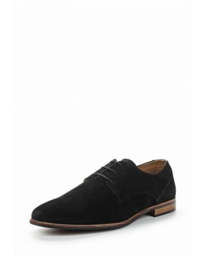 Черные туфли замшевые Topman