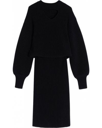 Черное трикотажное платье Victoria, Victoria Beckham