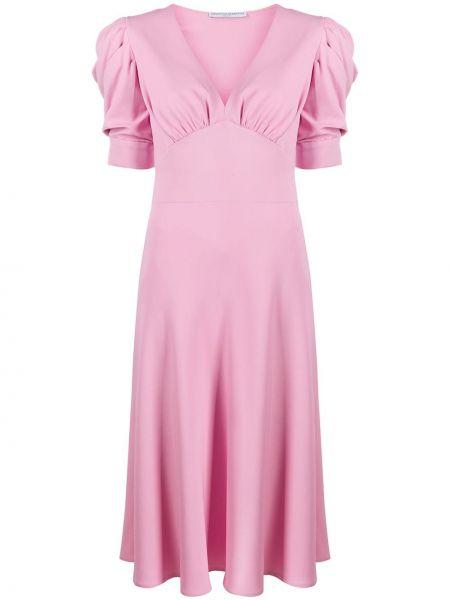 Розовое шелковое кружевное платье мини Ermanno Scervino