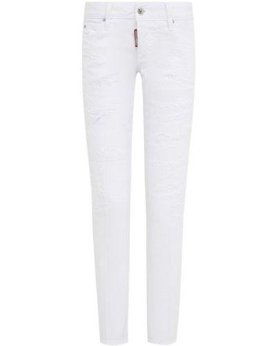 Хлопковые джинсы - белые Dsquared2