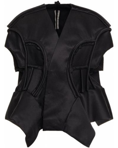 Czarna kurtka bawełniana Rick Owens