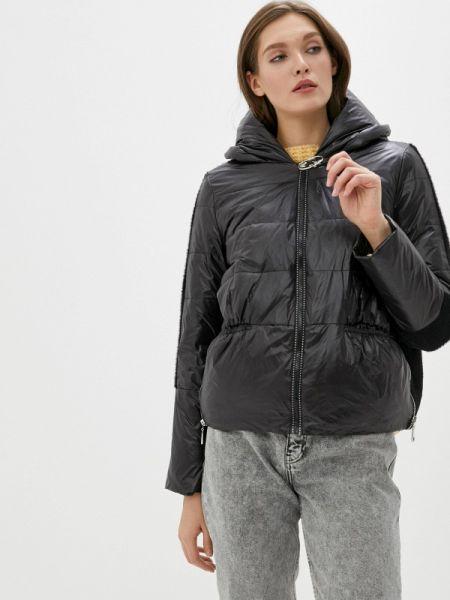 Теплая черная утепленная куртка Malinardi