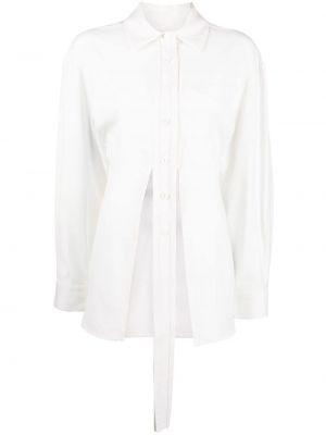 Шерстяная рубашка - белая Christopher Esber