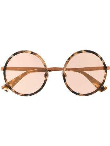 Муслиновые солнцезащитные очки круглые хаки Diesel