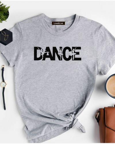 Повседневная футболка - серая Love&live