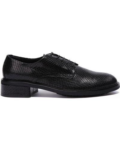 Кожаные туфли закрытые круглые Agl