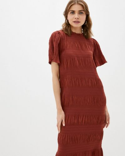 Коричневое прямое платье 2nd Day
