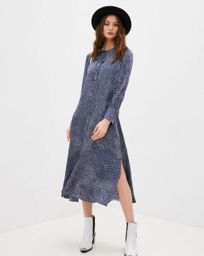 Повседневное синее повседневное платье Max&co