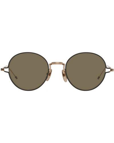 Солнцезащитные очки черные зеленый Thom Browne