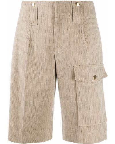 Шелковые шорты с карманами с высокой посадкой с потайной застежкой Chloé