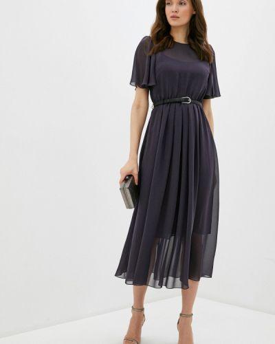 Серое вечернее платье Арт-Деко