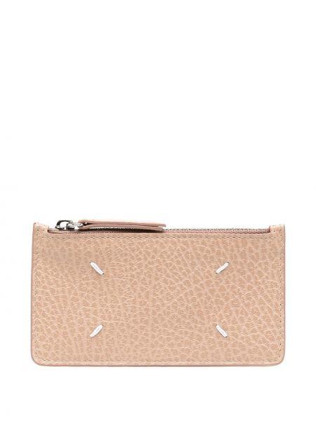 Розовый кожаный кошелек для монет со шлицей Maison Margiela