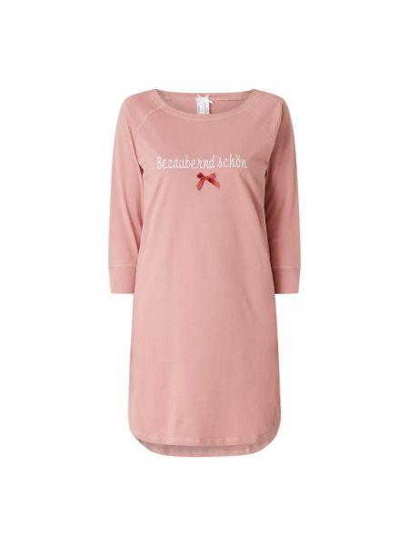 Bawełna bawełna różowy koszula nocna z dekoltem Louis & Louisa