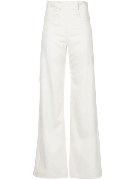 Расклешенные шерстяные белые брюки Taylor