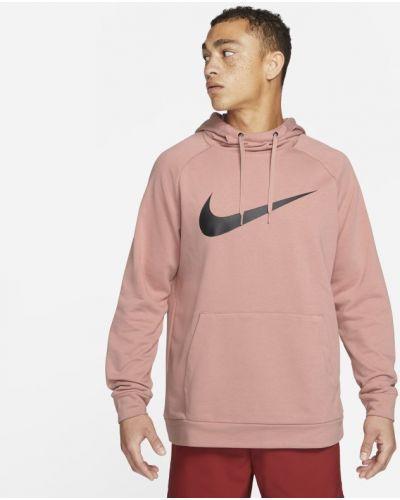 Różowa bluza z kapturem Nike