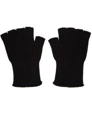 Rękawiczki z mankietami czarny The Elder Statesman