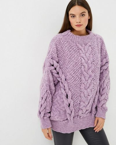 Фиолетовый свитер Brusnika