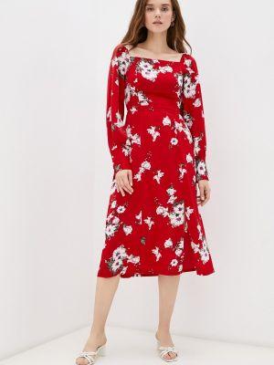Красное платье а-силуэта Hey Look