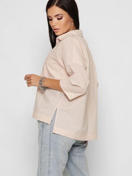 Рубашка с коротким рукавом - бежевая Braska
