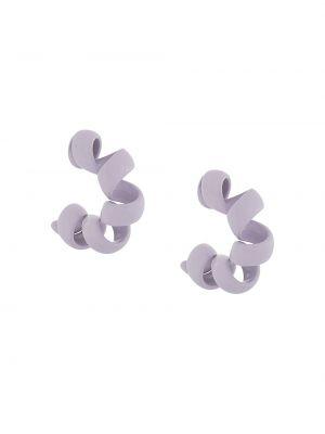 Фиолетовые серьги-гвоздики с бабочкой Bottega Veneta