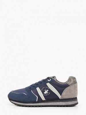 Текстильные синие низкие кроссовки Beverly Hills Polo Club