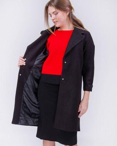 Черное пальто осеннее Olko