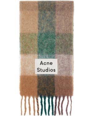 Szalik karmazynowy z haftem Acne Studios