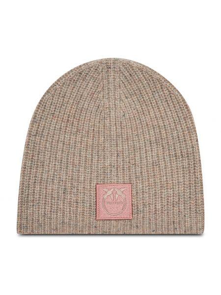 Beżowa z kaszmiru czapka Pinko