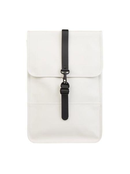Biały plecak na rzepy Rains