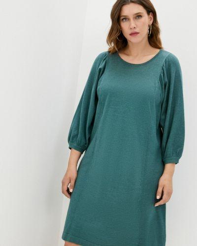 Зеленое платье-свитер Zizzi