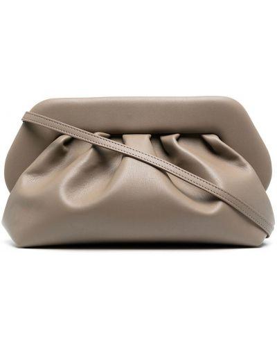 С ремешком серая сумка на плечо из натуральной кожи Themoirè