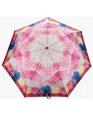 Розовый складной зонт Fabretti