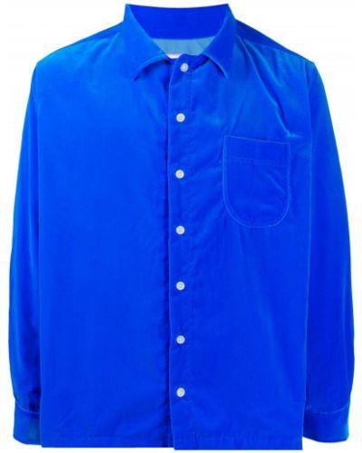 Niebieska koszula bawełniana z długimi rękawami Erl